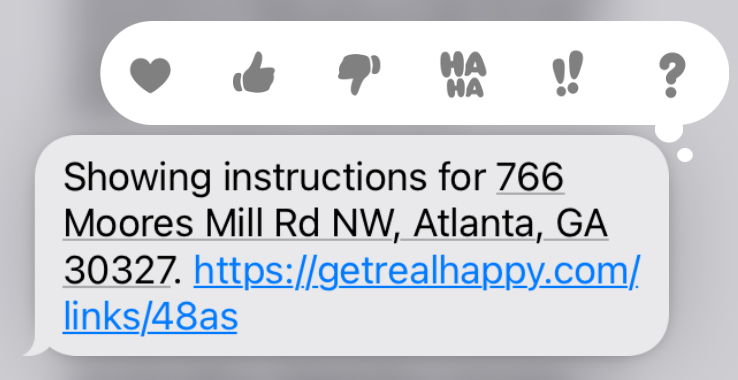 Text showing instructions